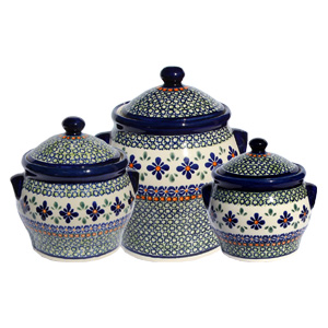 Polish Pottery Canister Set