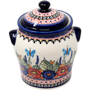 Polish Pottery Large Canister 6.4 cup