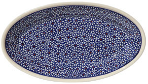 Polish Pottery Medium Oval Serving Dish, Classic Design 120