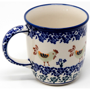 Mug 12 Oz. from Zaklady Polish Pottery Factory in Classic Pattern