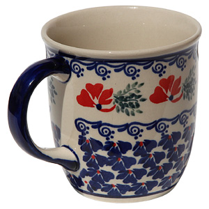 Polish Pottery Mug 12 Oz., Classic Design 1115