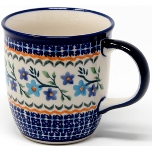 Mug 12 Oz. from Zaklady Polish Pottery Factory 3.5 inch diameter