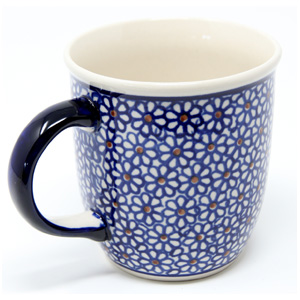 Polish Pottery Mug 12 Oz., Classic Design 120