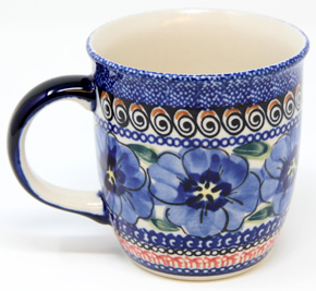 Polish Pottery Mug 12 Oz., Unikat Signature 148 Art