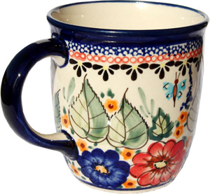 Polish Pottery Mug 12 Oz., Unikat Signature 149 Art