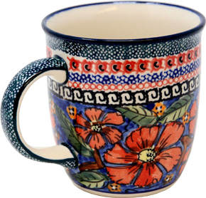 Polish Pottery Mug 12 Oz., Unikat Signature 150 Art