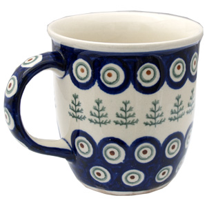 Polish Pottery Mug 12 Oz., Classic Design 312