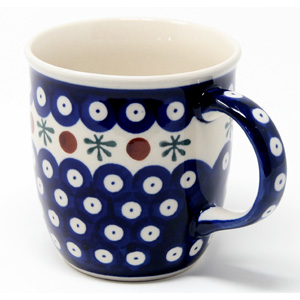 Polish Pottery Mug 12 Oz., Classic Design 41