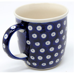 Polish Pottery Mug 12 Oz., Classic Design 42