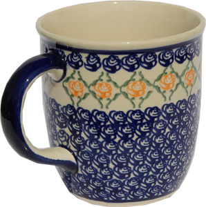 Polish Pottery Mug 12 Oz., Classic Design 869