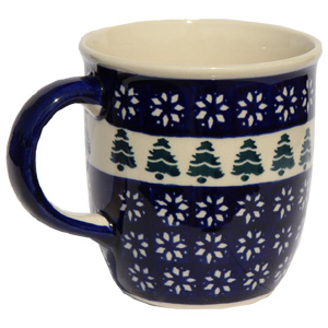 Polish Pottery Mug 12 Oz., Classic Design 914