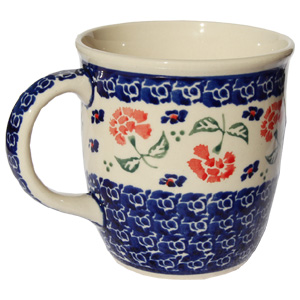 Polish Pottery Mug 12 Oz., Classic Design 963