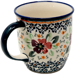 Polish Pottery Mug 12 Oz., Unikat Design DU116