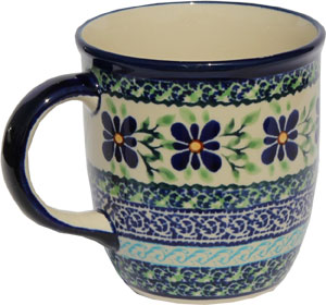 Polish Pottery Mug 12 Oz., Unikat Design DU121