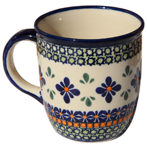 Polish Pottery Mug 12 Oz., Unikat Design DU60