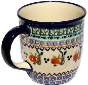 Polish Pottery Mug 12 Oz., Unikat Design DU71
