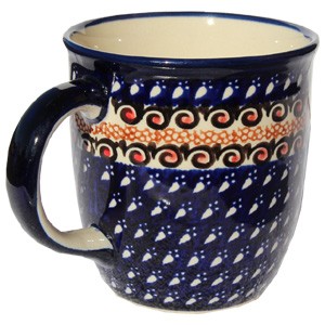 Polish Pottery Mug 12 Oz., Unikat Design DU79