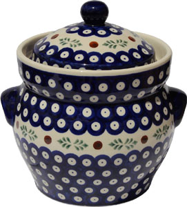 Polish Pottery Fermenting Crock Pot 1.7 liter / 1.8 quart, Classic Design 242