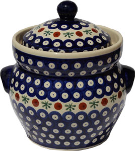 Polish Pottery Fermenting Crock Pot 1.7 liter / 1.8 quart, Classic Design 41