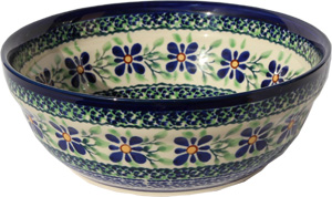 Polish Pottery Cereal / Salad Bowl  Decoration Inside, Unikat Design DU121