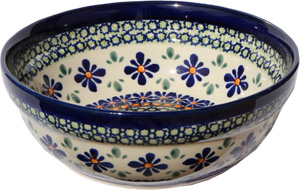 Polish Pottery Cereal / Salad Bowl  Decoration Inside, Unikat Design DU60