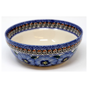 Polish Pottery Cereal / Salad Bowl, Unikat Signature Pattern 148 Art