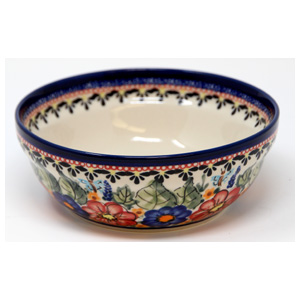 Polish Pottery Cereal / Salad Bowl, Unikat Signature Pattern 149 Art
