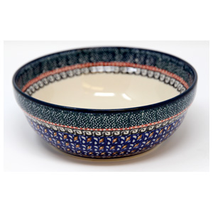 Polish Pottery Cereal / Salad Bowl, Unikat Signature Pattern 150 Art
