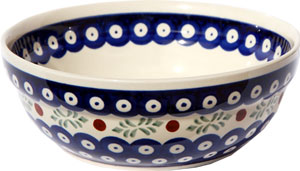 Polish Pottery Cereal / Salad Bowl, Classic Design 242
