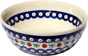 Polish Pottery Cereal / Salad Bowl, Classic Design 41