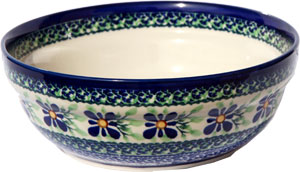 Polish Pottery Cereal / Salad Bowl, Unikat Design DU121