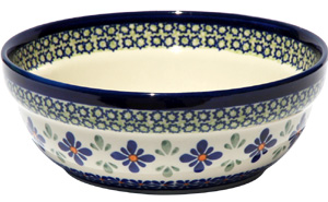 Polish Pottery Cereal / Salad Bowl, Unikat Design DU60