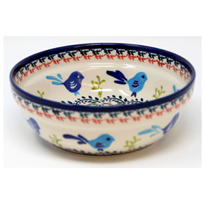 Polish Pottery Cereal / Salad Bowl  Decoration Inside, Unikat Signature Design 214 Art
