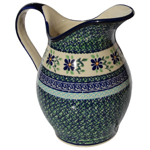 Polish Pottery Pitcher, Unikat Design DU121