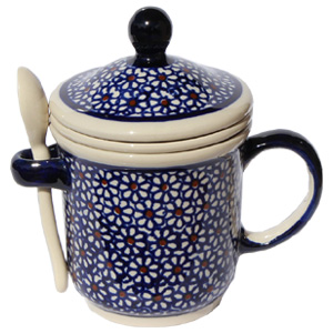Polish Pottery Brew-in-Mug, Classic Design 120