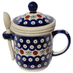 Polish Pottery Brew-in-Mug, Classic Design 41