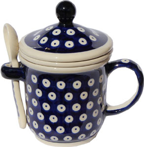 Polish Pottery Brew-in-Mug, Classic Design 42