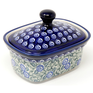 Butter Tub 2 Cups Capacity Polish Pottery 1073a Design