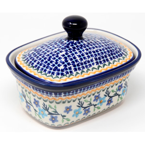 Butter Tub 2 Cups Capacity Polish Pottery 1154a Design