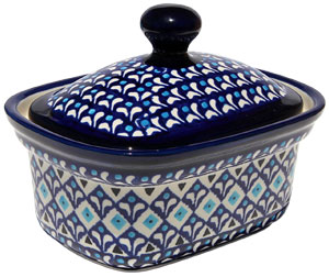 Polish Pottery Butter Tub, Classic Design 217a
