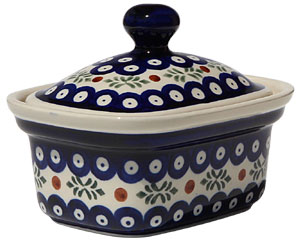 Polish Pottery Butter Tub, Classic Design 242