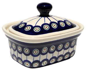 Polish Pottery Butter Tub, Classic Design 8