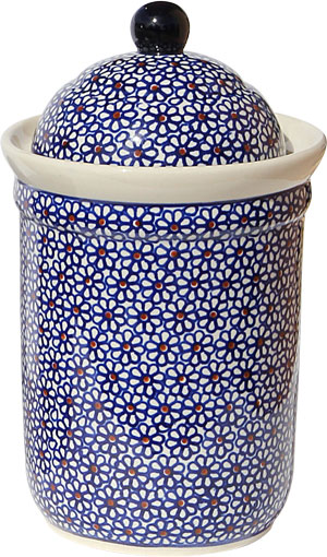 Polish Pottery Canister 5.5 Cups, Classic Design 120