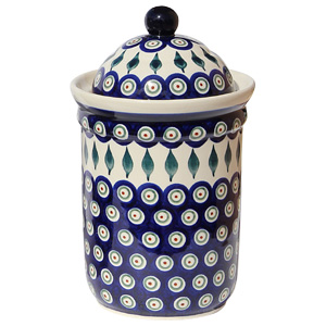 Polish Pottery Canister 5.5 Cups, Classic Design 56
