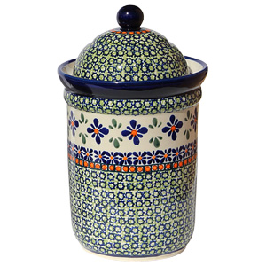 Polish Pottery Canister 5.5 Cups, Unikat Design DU60