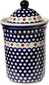 Polish Pottery Canister 10 Cups, Classic Design 41
