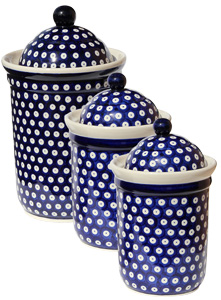 Polish Pottery 3 PC Canister Set, Classic Design 42