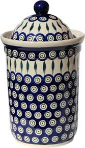 Polish Pottery Canister 10 Cups, Classic Design 56