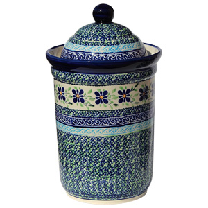 Polish Pottery Canister 10 Cups, Unikat Design DU121