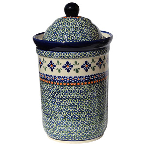 Polish Pottery Canister 10 Cups, Unikat Design DU60